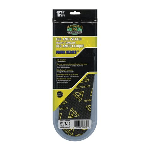 ANTI STATIC INSOLE FLAT - MEN'S 7-13 TRIMMABLE