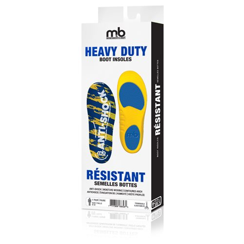 HEAVY DUTY BOOT INSOLES - MEN'S SIZE 8-12 TRIMMABLE
