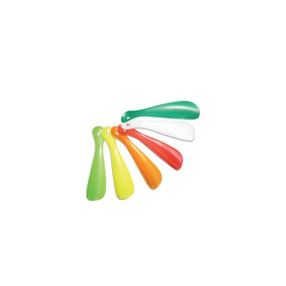 "PLASTIC SHOE HORN - 6"" / 15cm - ASSORTED COLOURS"