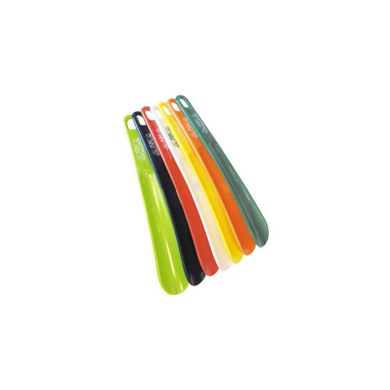 "PLASTIC SHOE HORN - 10"" / 25.4cm - ASSORTED COLOURS"